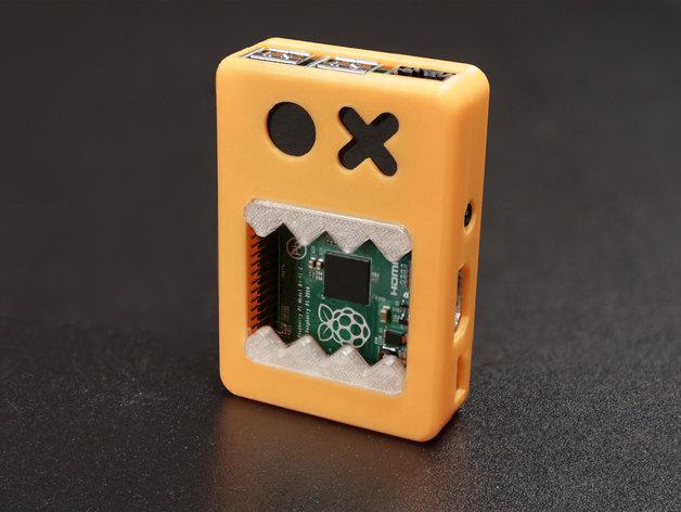 Raspberry Pi B+ 脸型外壳 3D打印模型渲染图