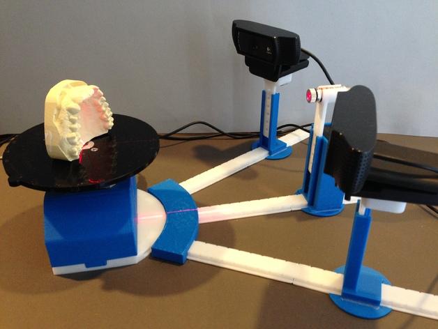 打印你自己的3D扫描仪组件 3D打印模型渲染图
