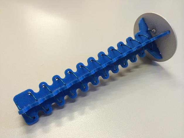 5.8MHz FPV 12转螺旋天线(5645频率)RcHobbysUK 波束宽度31.3度 3D打印模型渲染图