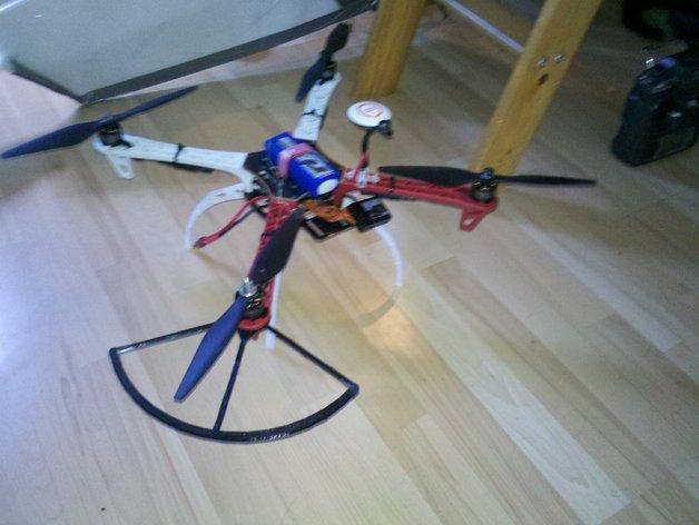 飞行器螺旋桨保护器——Protection d'hèlice F450 3D打印模型渲染图