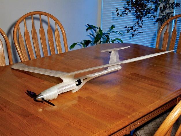 全3D打印模块 RC 滑翔机 3D打印模型渲染图