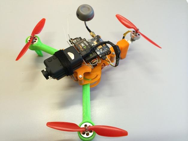 可折叠 BushBasher微型三轴迷你Rc 飞行器 v2 3D打印模型渲染图