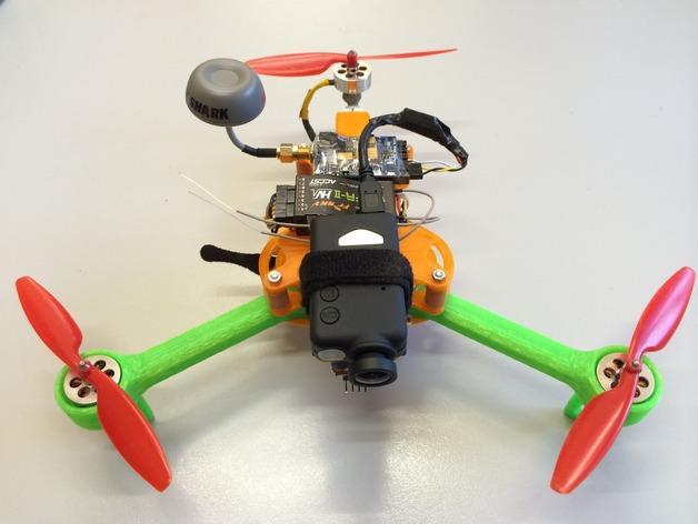 可折叠 BushBasher微型三轴迷你Rc 飞行器 v2