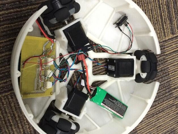 全方位滑轮机器人 3D打印模型渲染图