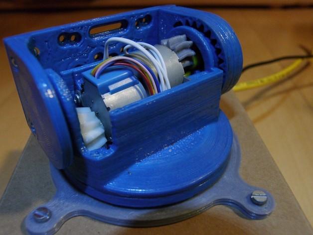 摄像头和小型DSLR的360度轮盘和倾斜头