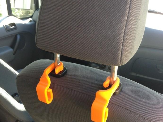 汽车椅背垃圾袋固定钩 3D打印模型渲染图
