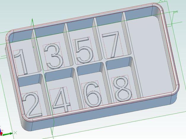 电子元件分隔槽 3D打印模型渲染图