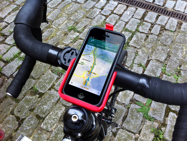 Iphone 5 自行车固定夹 3D打印模型渲染图