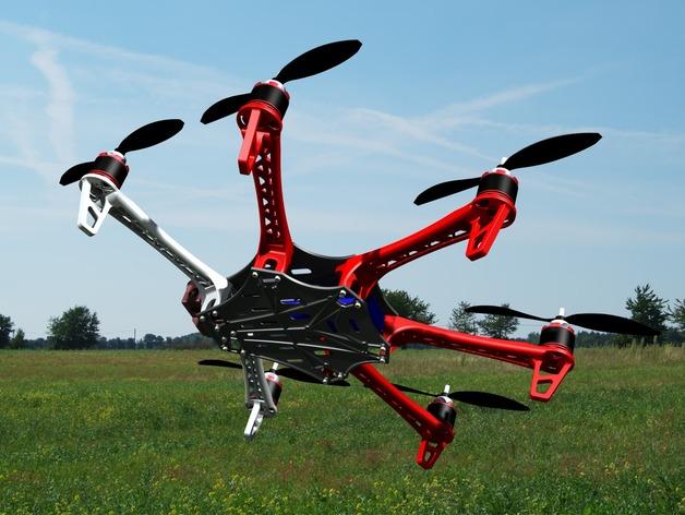 Spyda 500 六轴飞行器 3D打印模型渲染图