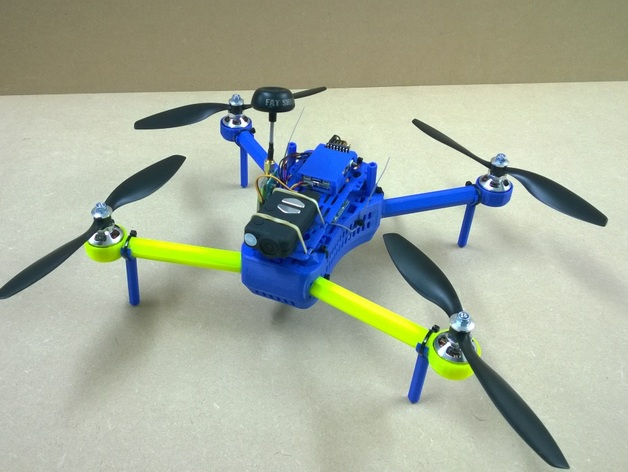 T型飞行器迷你支架腿 3D打印模型渲染图
