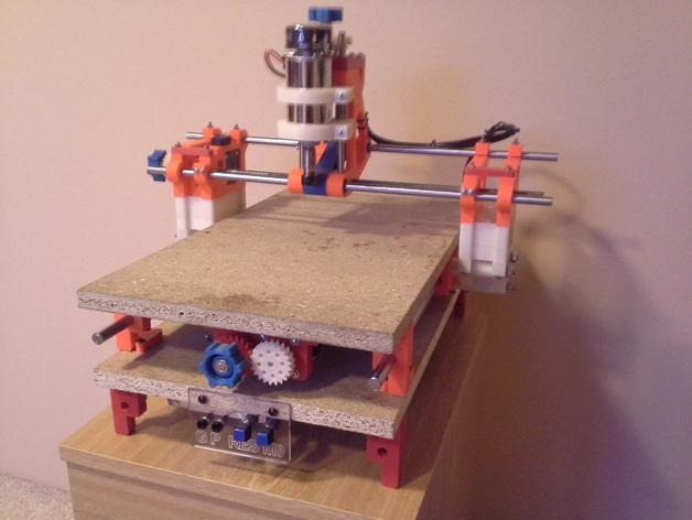 可移动数控机床 3D打印模型渲染图