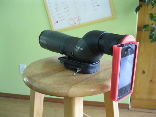iPhone 4s望远镜适配器 3D打印模型渲染图