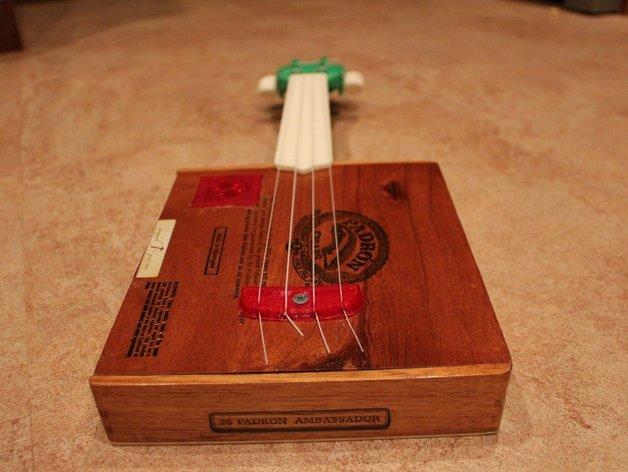 雪茄盒尤克里里 3D打印模型渲染图