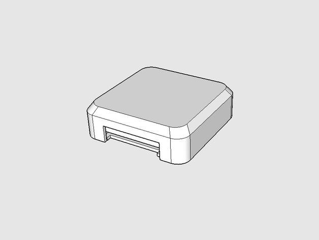 GPS固定槽 3D打印模型渲染图