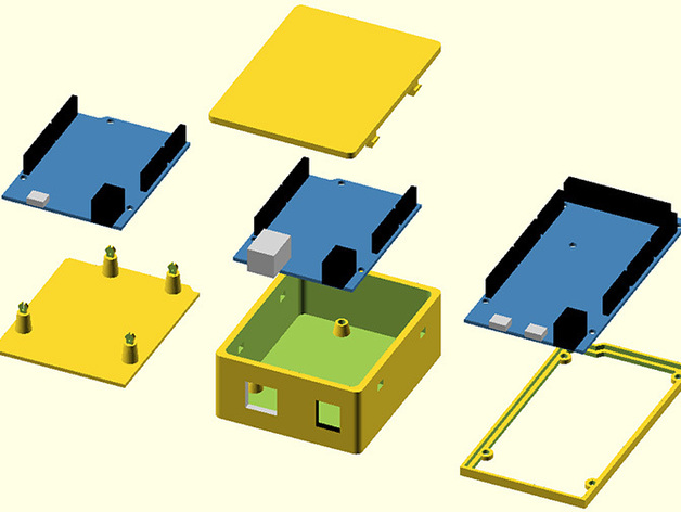 Arduino OpenSCAD固定架 3D打印模型渲染图
