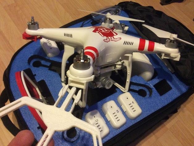 四轴飞行器螺旋桨快速释放保护架 3D打印模型渲染图
