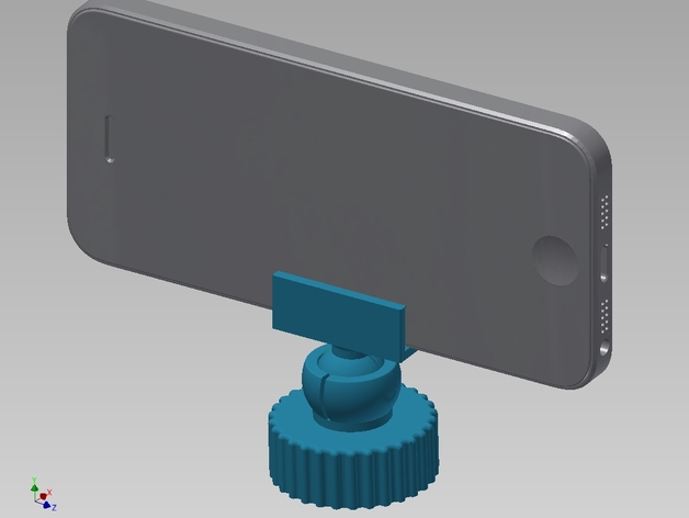 旋转iPhone固定槽 3D打印模型渲染图