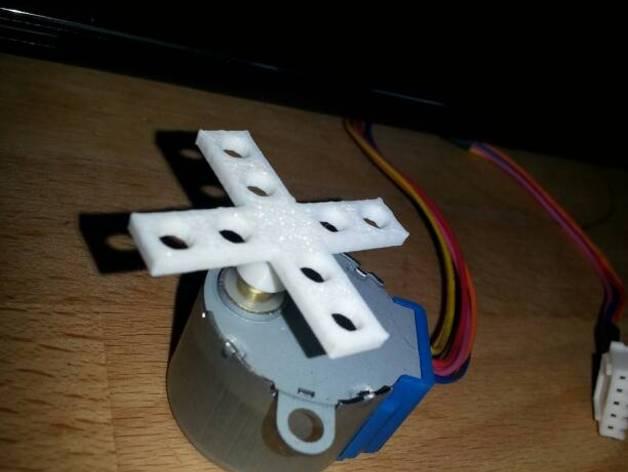 Stepper Motor 28BYJ-48齿帽 3D打印模型渲染图