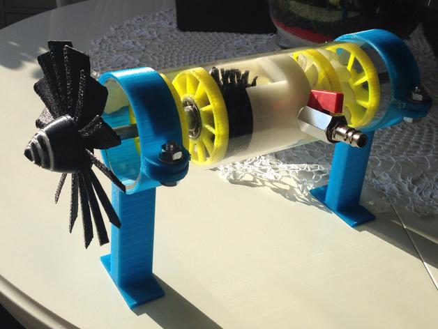 喷气机引擎 3D打印模型渲染图