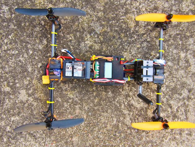 迷你H-Quad四轴飞行器 碳杆机身