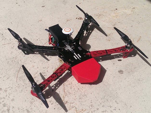 TBS Discovery四轴飞行器可拆卸鼻锥 3D打印模型渲染图
