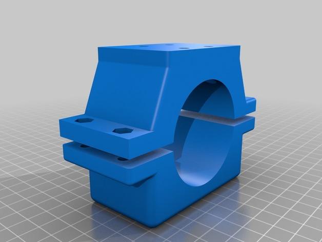 Shapeoko 2主轴固定夹 3D打印模型渲染图