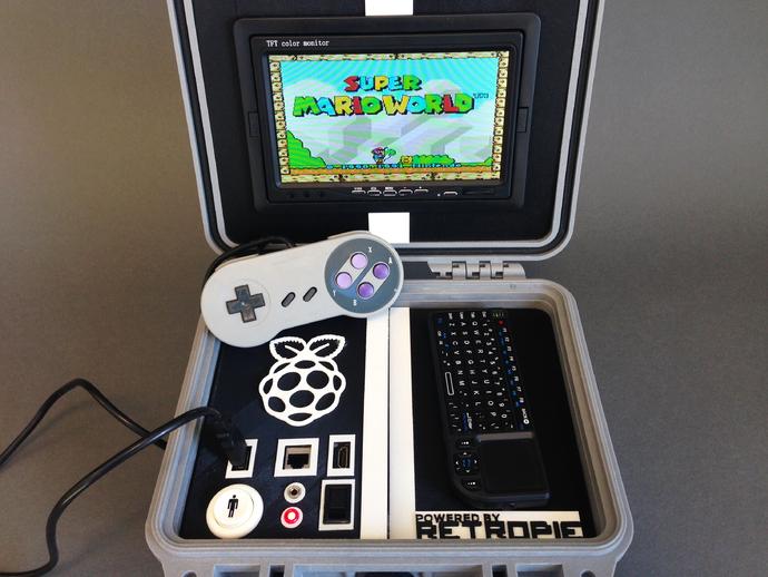 Retro Pie盒子 3D打印模型渲染图