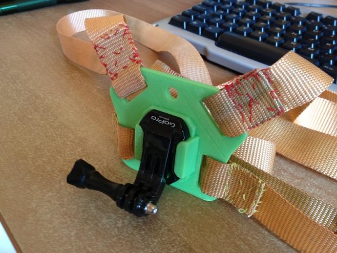 Gopro 骨架槽 3D打印模型渲染图