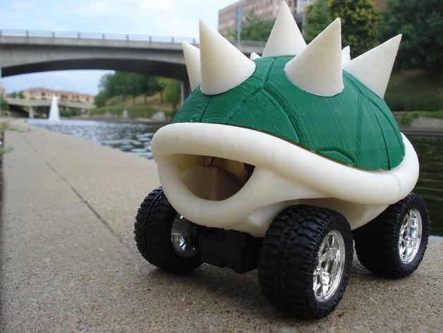 龟壳赛车 3D打印模型渲染图