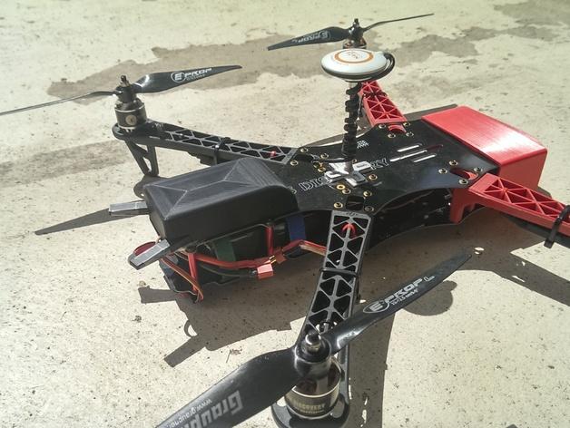 四轴飞行器接收装置外壳 3D打印模型渲染图