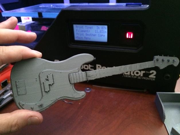 贝斯吉他 3D打印模型渲染图