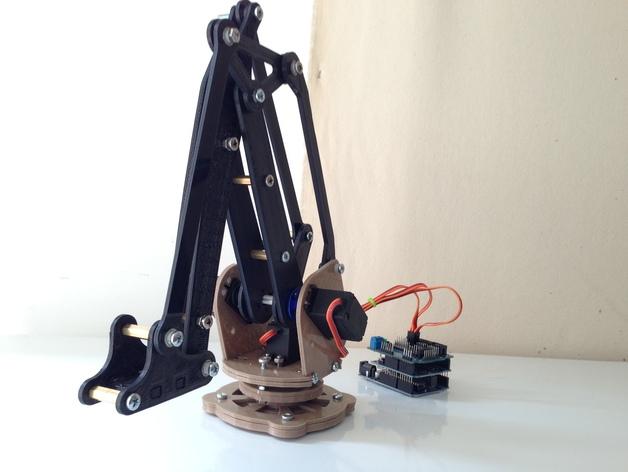 工业机器人  3D打印模型渲染图