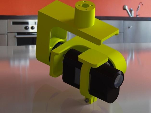 索尼HDR-AS15摄像机 平衡环 3D打印模型渲染图