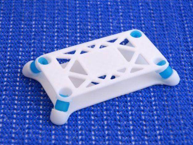 飞行控制器防振底座 3D打印模型渲染图