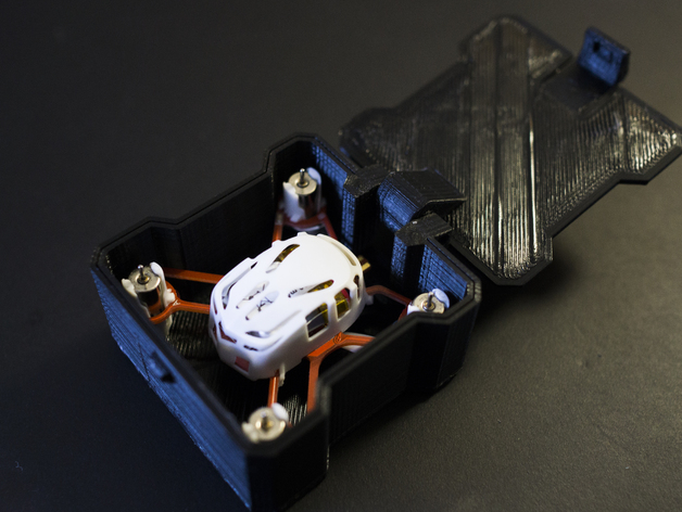 迷你四轴飞行器 收纳盒 3D打印模型渲染图