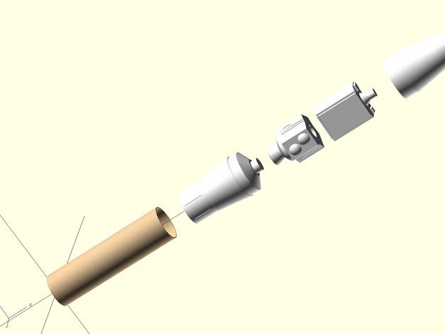 Estes GeoSat LV火箭塑料零部件