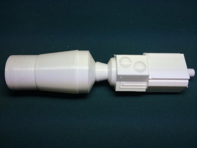Estes GeoSat LV火箭塑料零部件 3D打印模型渲染图