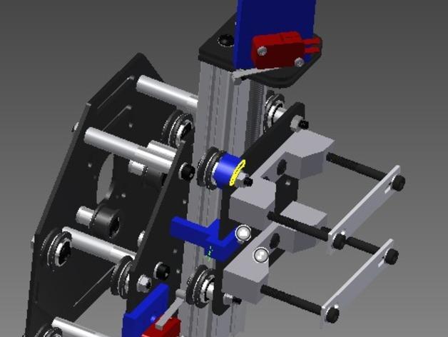 限位开关零部件 3D打印模型渲染图