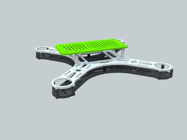 迷你四轴飞行器 框架 3D打印模型渲染图
