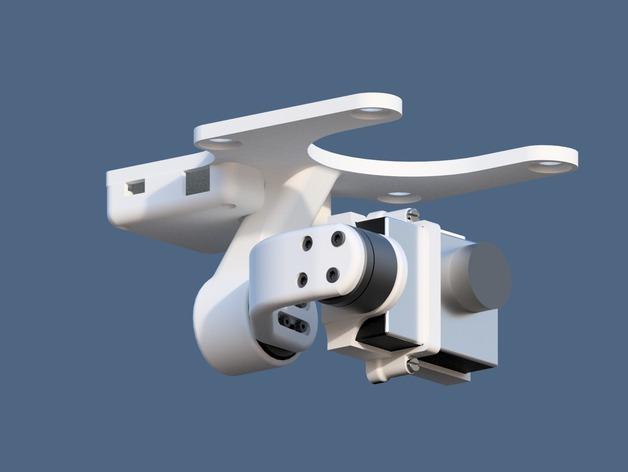 DJI Phantom 2摄像机两轴平衡环