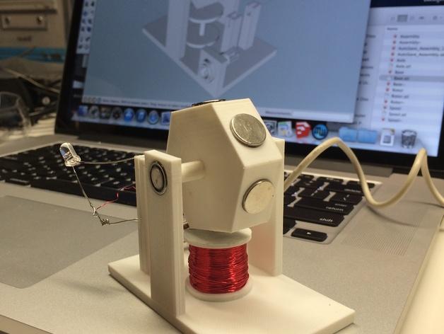 3D打印单线圈脉冲电机 3D打印模型渲染图