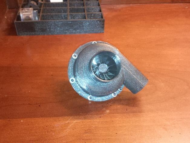 涡轮鼓风机  3D打印模型渲染图