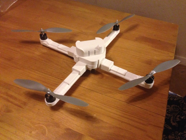 四轴飞行器 3D打印模型渲染图