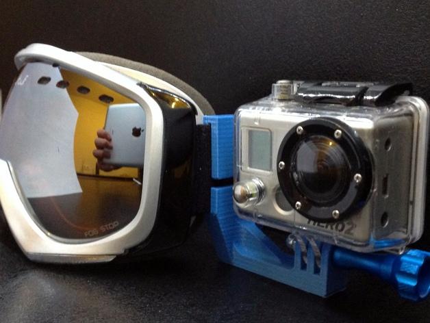 滑雪头盔 GoPro相机固定架