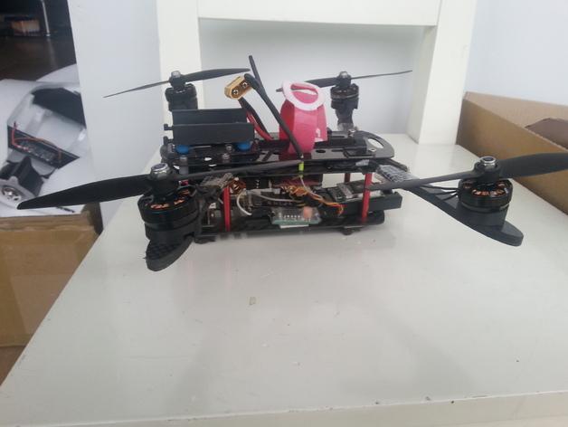 四轴飞行器发动机支架  3D打印模型渲染图