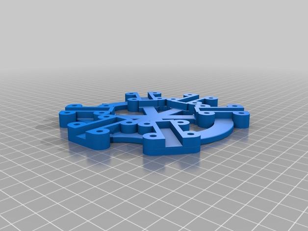 六轴飞行器/四轴飞行器 中心板  3D打印模型渲染图