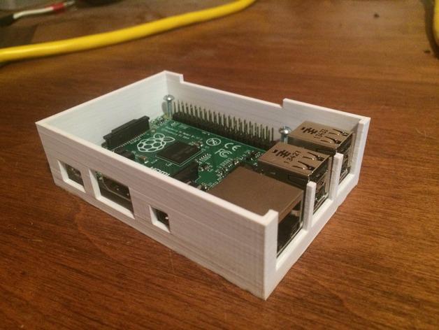树莓派B+电路板外壳 3D打印模型渲染图