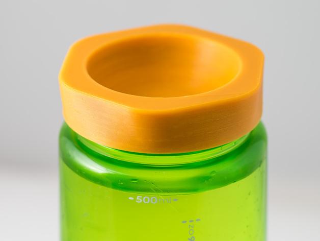 Nalgene 耐洁水瓶瓶盖 3D打印模型渲染图