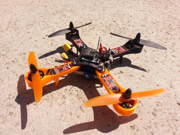 迷你四轴飞行器框架 3D打印模型渲染图