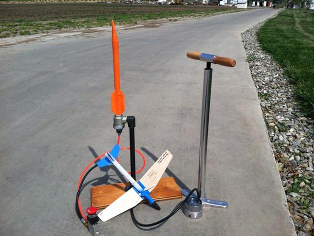 地对空火箭 滑翔机  3D打印模型渲染图